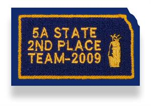 Chenille Patches with Embroidery for Varsity Letterman Jackets