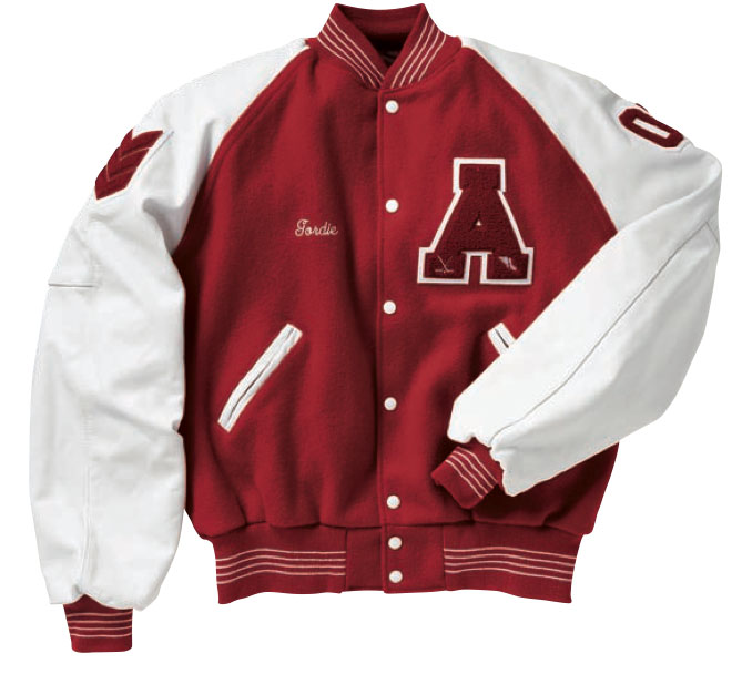 Scarlet Red Wholesale Varsity Letterman Jacket
